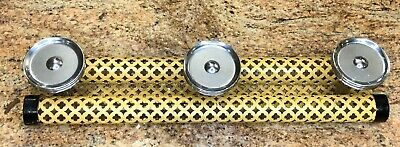 French Art Deco Wire Mesh Coat Hook With Chrome Knobs C.1920'S Yellow And Black