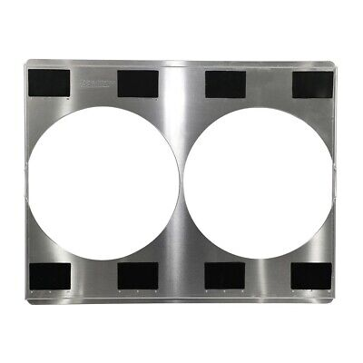 "ALUMINUM UNIVERSAL DUAL 12/"" FAN SHROUD WITH LOUVERS 26/"" X 18 3//8/"""