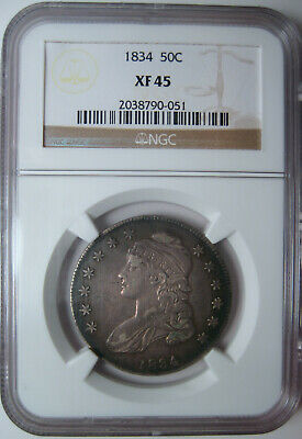 1834 Capped Bust Half Dollar~Ngc Certified Xf45~Attractive High Grade Example* *