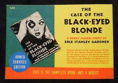 THE CASE OF THE BLACK-EYED BLONDE Perry Mason 1940s Armed Services Edition #S-21