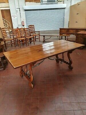 Stunning Theodore Alexander Solid Walnut Large Planked Dinning/Kitchen Table