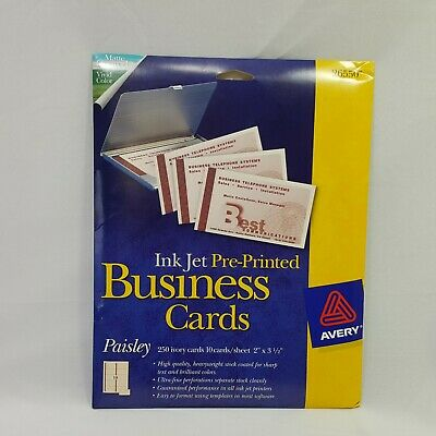 Avery Inkjet Pre-Printed Business Cards Paisley 500 Cards High Quality 26550