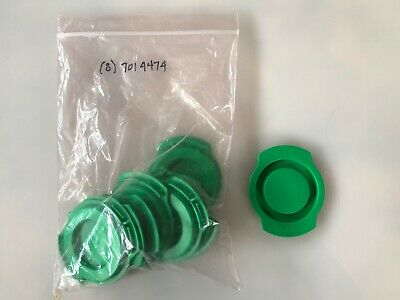 Nordson EFD 7014474 - (8) 20oz Green End Caps NEW Open Box