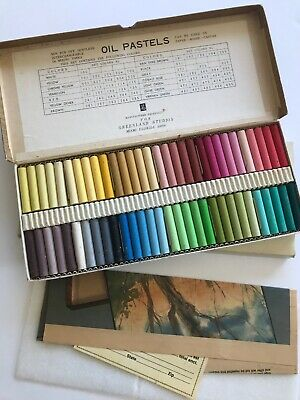 VINTAGE GREENLAND STUDIOS OIL PASTEL SET - 60 COLORS - Most Unused