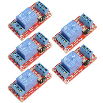 5Pcs 5V 1-Channel Relay Module with Optocoupler H/L Level Triger for Arduino