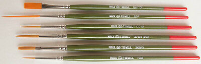 Mack Jeral Tidwell Signature Series Pinstriping Paint Brushes Set of Six Pieces