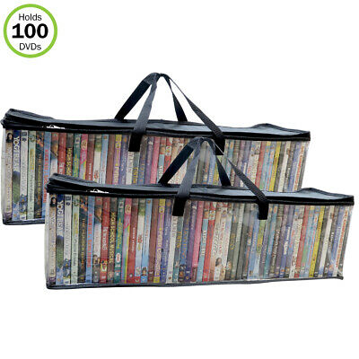 Holds 82 CD/'s Total,Set//2 Evelots CD Music Storage Clear Bags,Easy To Carry