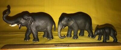 Schleich Germany Asian Elephant Bull, Cow, and Calf