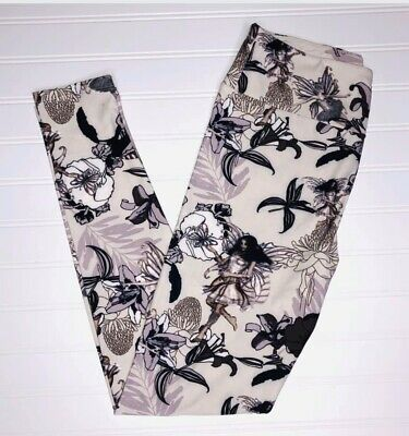 Lularoe Os Leggings Floral Fairy Girl Beautiful Wings