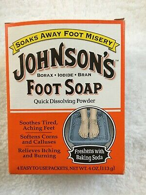 Johnson's Foot Soap 4 One Ounce Packets