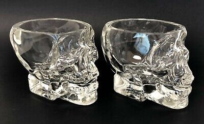 Skull Shot Glasses Crystal Head Vodka Set of 2, Glass, Dan Akroyd