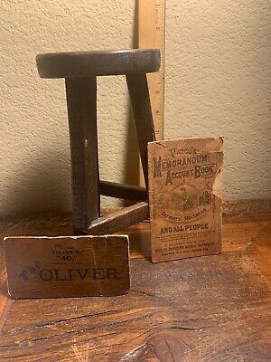 ANTIQUE PRIMITIVE 1916 SMALL 3 LEG CHILD   MILKING STOOL Michigan With History