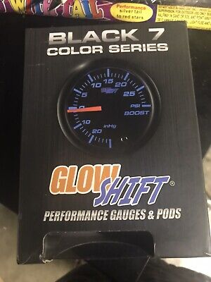 Peak Recall Function Includes Electronic Sensor For Diesel Trucks White Dial Clear Lens GlowShift White Elite 10 Color 30 PSI Fuel Pressure Gauge Kit 2-1//16 52mm GlowShift Gauges GS-EWT11/_30