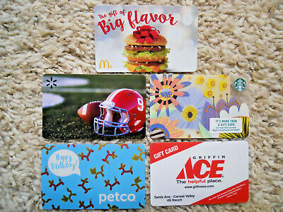 Gift Cards, Collectible, five cards, new, unused, no value on cards     (J-9)