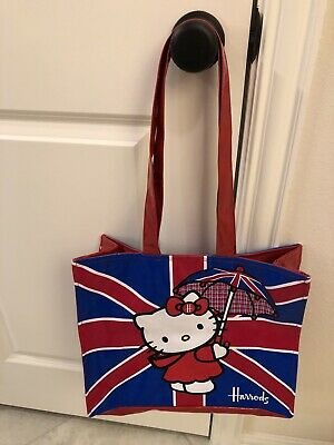 Harrods Department Store x Hello Kitty Rare Zip Tote Bag UK