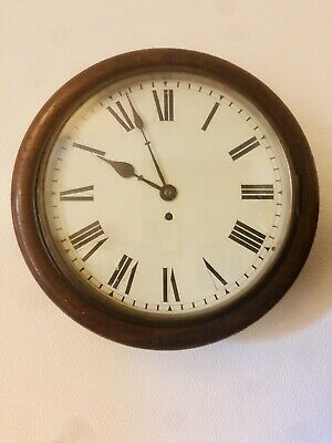 Antique English Mahogany Fusee Dial Clock  c1820