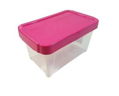 "14 X Stackable Pink Cd Dvd Office Garage General Storage Box 10"" @Last Stocks@"
