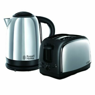 QUALITY Russell Hobbs Lincoln Kettle And Toaster Set - Polished Stainless Steel