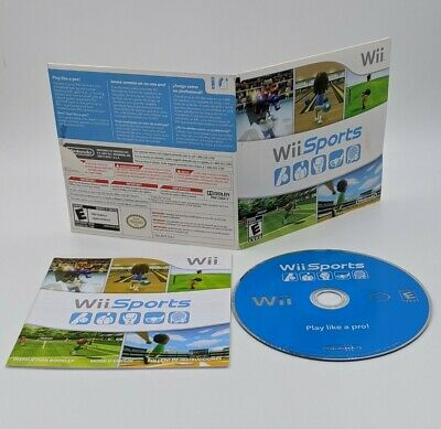 Wii Sports (Nintendo Wii, 2006) - Complete in Sleeve Manual Tested Working