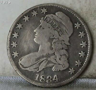"""1934 Capped Bust Half Dollar """"VG/F"""" *Free Shipping After First Item*"""
