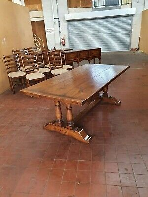 Antique/Reproduction Solid Oak Refectory Farmhouse Dinning/Kitchen Table