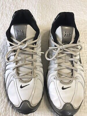Nike Max Air Torch Men's Running Shoes Size 9.5  White Silver Black Sneakers