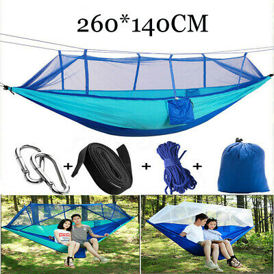 Double Hammock Tent Outdoor Camping Hanging Bed Swing Chair No Mosquito