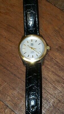 Tag Heuer Link 18k Gold & Stainless Steel Mother of Pearl Face Watch (WJF1352)