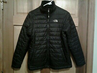 Girls THE NORTH FACE winter coat jacket reversible size XL 18 Black