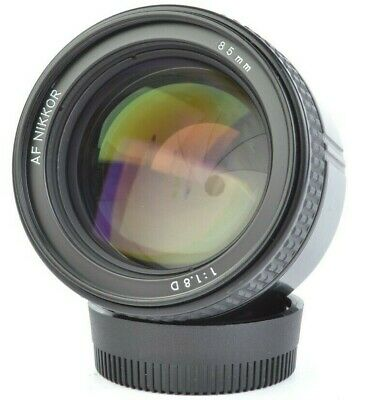 Nikon AF NIKKOR 85mm f/1.8D Telephoto Prime Lens for F-Mount w/ Hood, Box #E2185
