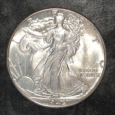 1942 Walking Liberty Half - Uncirculated - High Quality Scans #E979