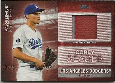 2020 Topps Series 1 COREY SEAGER ML Material Relic RED PATCH 9/25 Dodgers Jersey