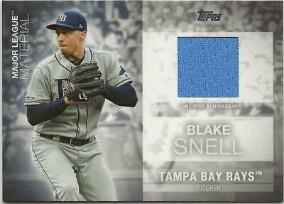 2020 Topps Series 1 BLAKE SNELL Major League Material Relic Rays Jersey Blue