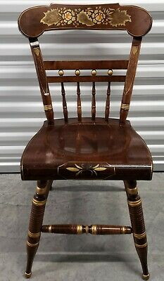 Ethan Allen Hand Decorated Hitchcock Accent Chair Antiqued Pine #12-6120 #618