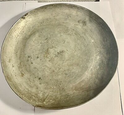 Vintage 11 Inch Copper Plate Handcrafted 1.75 Pounds New York