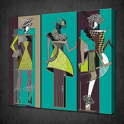 Fashion Women Sketches Modern Canvas Wall Art Picture Print Ready To Hang
