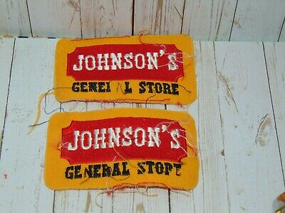 """2 Johnson's General Store,Caseys Convenience Gas Station 4"""" Shirt,Jacket Patch"""