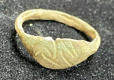 Authentic Ancient Lake Ladoga VIKING Artifact > Bronze Finger Ring VW9