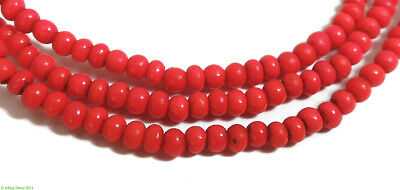 3 Strands Vintage Seed Trade Beads Red Tiny African