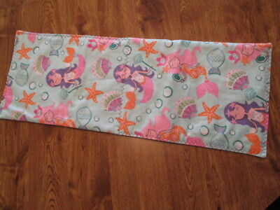 NEW Mermaids Print Flannel Handmade Quilted Baby Changing Pad, Bassinet Pad