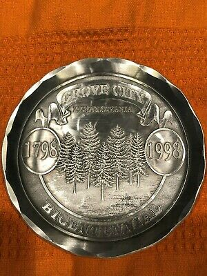WENDELL AUGUST FORGE Vintage Coaster Aluminum Grove City Bicentennial 1798-1998