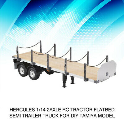 Tamiya-RC D Parts 1//14 Truck Flatbed Semi-Trailer for R//C Tractor Tr-TAM0005605
