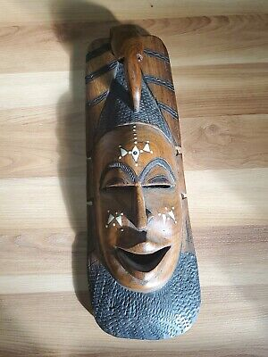 Hand Carved Wooden African Tribal Mask ~ Wall Decoration
