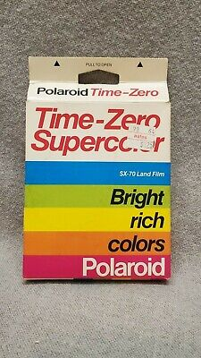 Polaroid Time Zero SX-70 Land Film Supercolor 10 Pictures