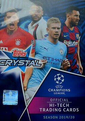 TOPPS UEFA CHAMPIONS LEAGUE CRYSTAL CARDS 2019/20 - 77 DIFFERENT cards