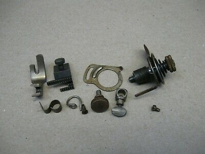 Antique Singer 27 Sewing Machine Service Parts Tension Switch Needle Clamp Dog &