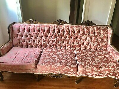 Gorgeous French Carved Antique Couch