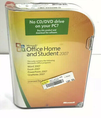 Microsoft Office Home and Student 2007 GENUINE sealed NEW 79G-00007