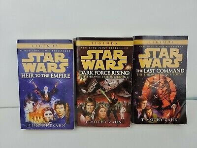 STAR WARS THRAWN TRILOGY -TIMOTHY ZAHN Paperback 1992-94 Bantam original art