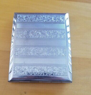 Cigarette Metal Case Victorian Style *Double Sided * Floral Pattern
